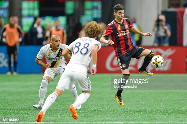 Atlanta's Miguel Almiron settles the ball during a match between Atlanta United and LA Galaxy on September 20 2017 at MercedesBenz Stadium in Atlanta...