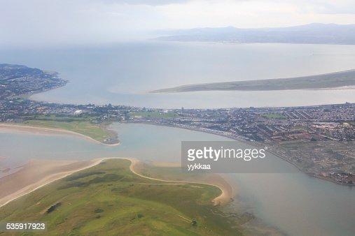 Oceano Atlântico e imediações de Dublin : Foto de stock