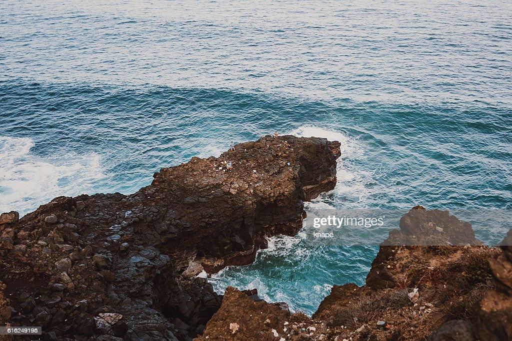 Atlantic ocean in Tenerife Spain : Stock Photo