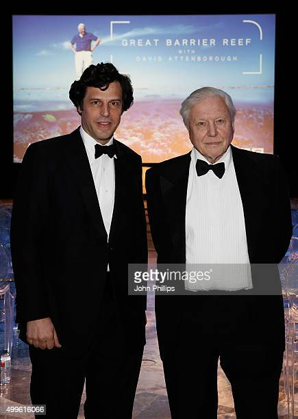 Atlantic Productions CEO and Creative Director Anthony Geffen and Sir David Attenborough poses ahead of the special screening event of his new series...
