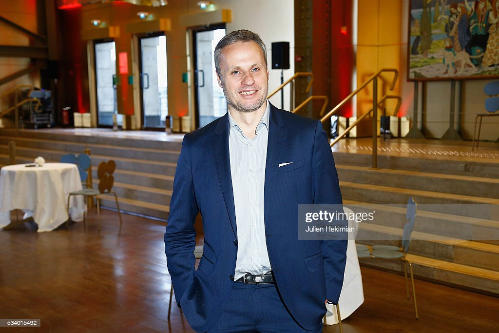 Atlantico's Director of Publication Jean Sebastien Ferjou attends the Atlantico 5th Anniversary at Cafe Campana at Musee d'Orsay on May 24, 2016 in Paris, France.