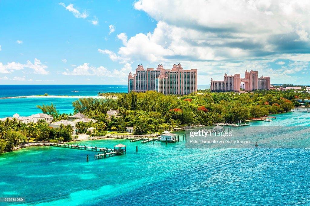 Atlantis Caribbean beach resort at Nassau, Bahamas