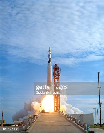Atlas Agena target vehicle liftoff for Gemini 11, Cape Canaveral, Florida.
