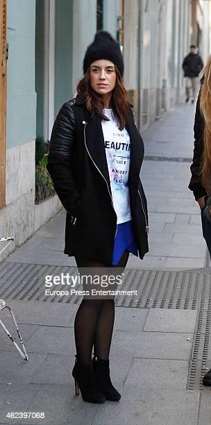 Atletico de Madrid football player Antoine Griezmann's girlfriend is seen on January 27 2015 in Madrid Spain