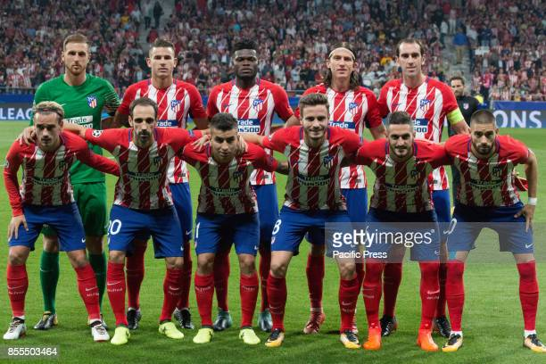 METROPOLITANO MADRID SPAIN Atletico de Madrid team Victory in the last seconds of the game for Chelsea by 1 to 2 Griezmann Morata and Batshuayi makes...