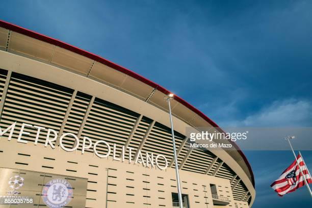Atletico de Madrid Wanda Metropolitano Stadium ahead of Champions League match against Chelsea