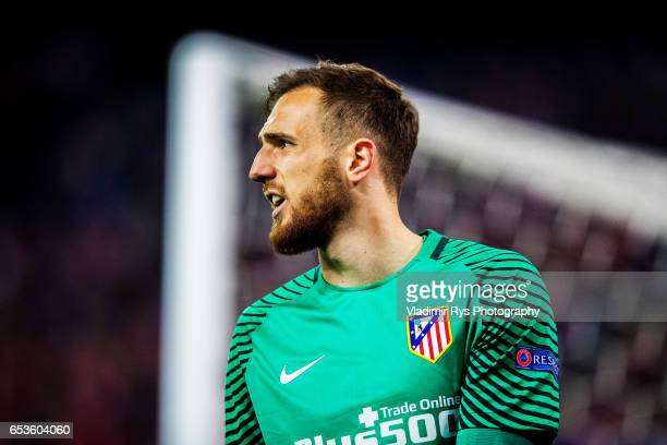 Atletico goalkeeper Jan Oblak is pictured during the UEFA Champions League Round of 16 second leg match between Atletico Madrid and Bayer Leverkusen...