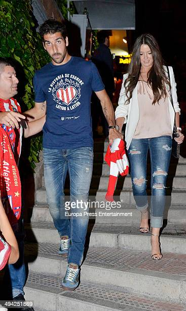 Atletico Madrid football player Raul Garcia Escudero attends the dinner to celebrate the Spanish league title on May 17 2014 in Madrid Spain