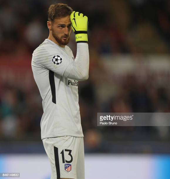 Atletico Madrid goalkeeper Jan Oblak looks on during the UEFA Champions League group C match between AS Roma and Atletico Madrid at Stadio Olimpico...