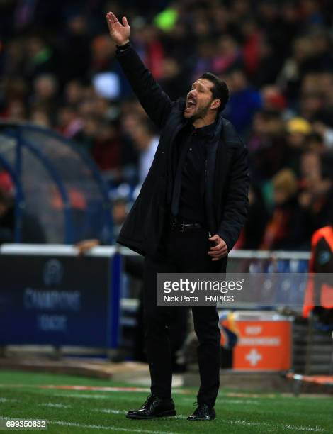 Atletico Madrid Head Coach Diego Simeone during 20 win over Galatasaray