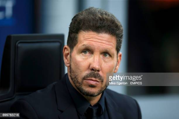 Atletico Madrid manager Diego Simeone before the game