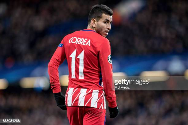 Atletico Madrid Ángel Correa during the UEFA Champions League group C match between Chelsea FC and Atletico Madrid at Stamford Bridge on December 5...