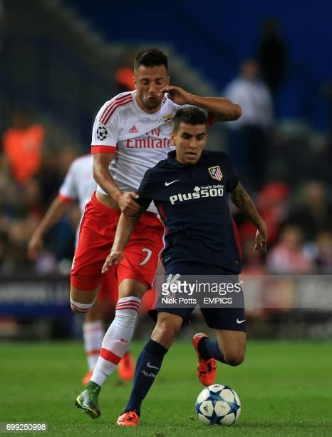 Atletico Madrid's Angel Correa breaks past Benfica's Samaris