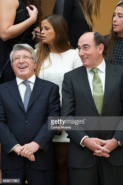 Atletico Madrid's FC President Enrique Cerezo and President of Iberdrola energy group Ignacio Sanchez Galan attend the Spanish National Sports Awards...
