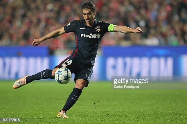 Atletico Madrid's midfielder Gabi during the match between SL Benfica and Club Atletico de Madrid for the UEFA Champions League at Estadio da Luz on...