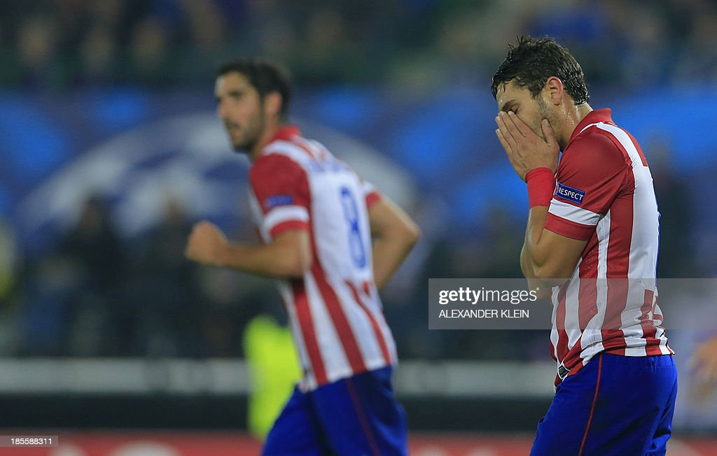 Atletico Madrid's midfielder Koke reacts during the UEFA Champions League Group G football match Austria Wien vs Atletico de Madrid in Vienna, Austria on October 22, 2013. AFP PHOTO / ALEXANDER KLEIN