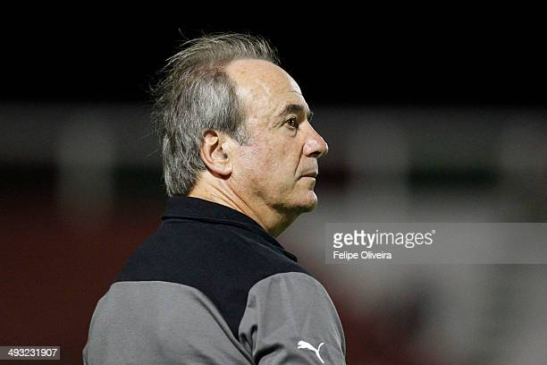 AtleticoMG coaches Levir Culpi in action during the match between Vitoria and AtleticoMG as part of Brasileirao Series A 2014 at Alberto Oliveira...