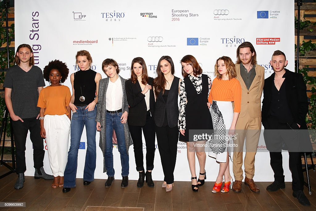 Atli Oskar Fjalarsson, Martha Canga Antonio, Tihana Lazovic, Lou de Laage, Daphne Patakia, Sara Serraiocco, <a gi-track='captionPersonalityLinkClicked' href=/galleries/search?phrase=Maria+Valverde&family=editorial&specificpeople=235988 ng-click='$event.stopPropagation()'>Maria Valverde</a>, <a gi-track='captionPersonalityLinkClicked' href=/galleries/search?phrase=Jella+Haase&family=editorial&specificpeople=8807647 ng-click='$event.stopPropagation()'>Jella Haase</a>, Reinout Scholten van Aschat and Kacey Mottet Klein attend the Shooting Stars 2016 photo call in cooperation with L'Oreal during the 66th Berlinale International Film Festival Berlin at 25hours Hotel on February 13, 2016 in Berlin, Germany.