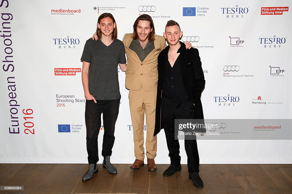 Atli Oskar Fjalarsson, Reinout Scholten van Aschat and Kacey Mottet Klein attend the Shooting Stars 2016 photo call in cooperation with L'Oreal during the 66th Berlinale International Film Festival Berlin at 25hours Hotel on February 13, 2016 in Berlin, Germany.