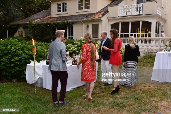 Atmospehere at the East Hampton Library Authors Night Dinner With Stewart F Lane at Stewart Lane's Residence on August 8 2015 in East Hampton New York