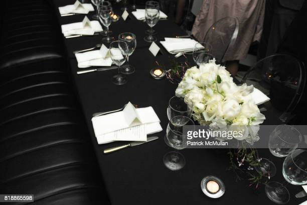 Atmosphere and Table Setting attend SAKS FIFTH AVENUE and THE WHITNEY MUSEUM OF AMERICAN ART celebrate Emerging Designers Private Dinner at Mr Chow...