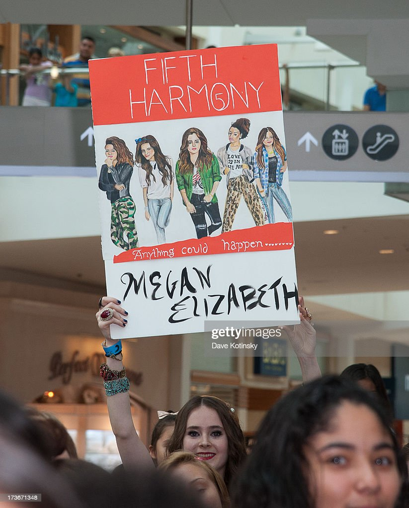 Atmosphere as Fifth Harmony perform as part of the 'Harmonize American Mall Tour' at Garden State Plaza on July 16, 2013 in Paramus, New Jersey.