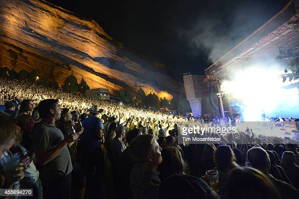 Atmosphere as Florida Georgia Line performs at Red Rocks Amphitheatre on September 18 2014 in Morrison Colorado