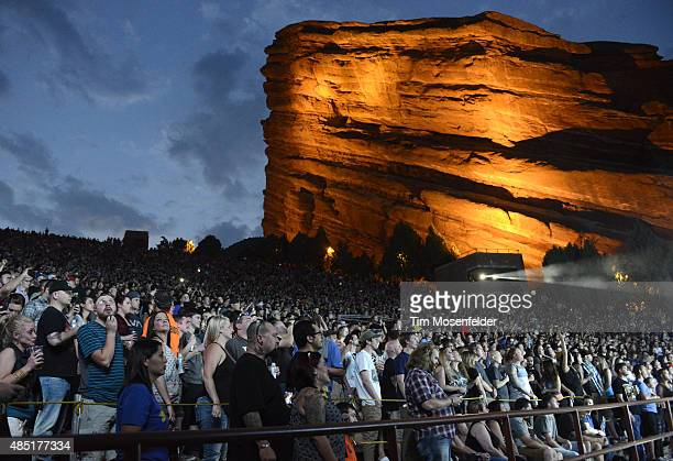 Atmosphere as Incubus performs at Red Rocks Amphitheatre on August 24 2015 in Morrison Colorado