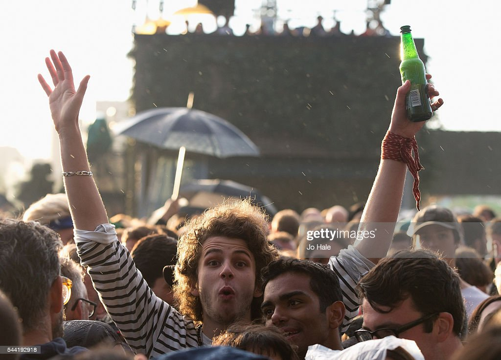 Atmosphere as Massive Attack perform as part of Barclaycard Presents British Summer Time Hyde Park: Day 1 at Hyde Park on July 1, 2016 in London, England.