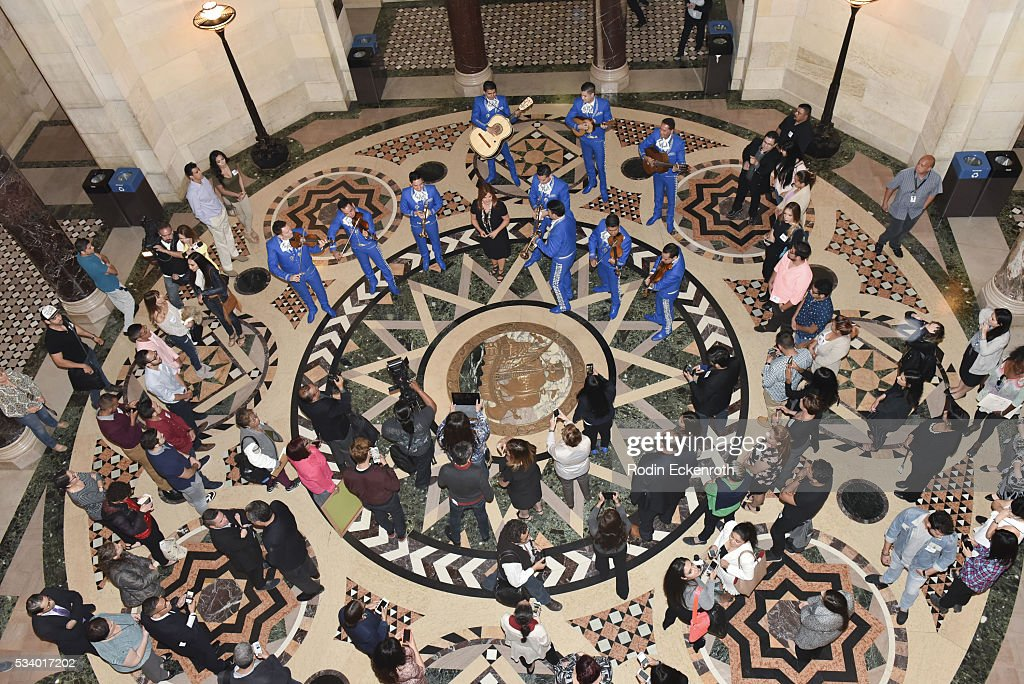 Atmosphere as seen at The City of Los Angeles Honors Maria Celeste Arraras at Los Angeles City Hall on May 24, 2016 in Los Angeles, California.