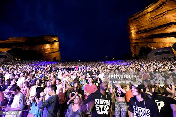 Atmosphere as The Chainsmokers perform at Red Rocks Amphitheatre on September 1 2016 in Morrison Colorado