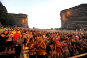 Atmosphere as Wiz Khalifa performs at Red Rocks Amphitheatre on September 1 2012 in Morrison Colorado