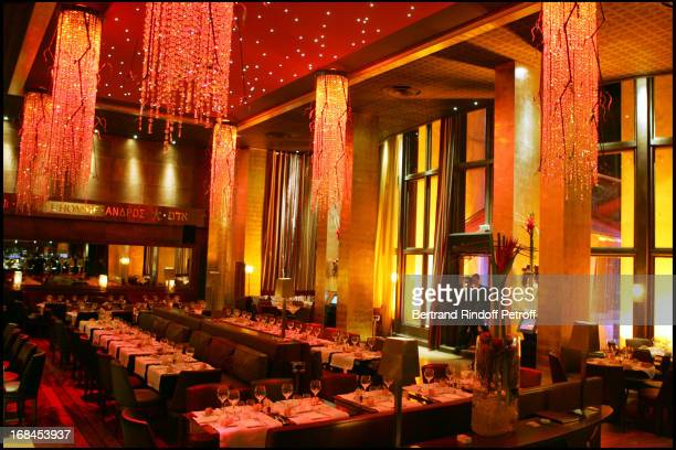 Atmosphere at 100th Episode Of 'Campus' Of Guillaume Durant At Le Cafe De L'Homme Restaurant At The Trocadero