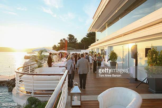 Atmosphere at a dinner party hosted by iHeartmedia and Medialink featuring a special performance by Chris Martin during the Cannes Lions Festival at...