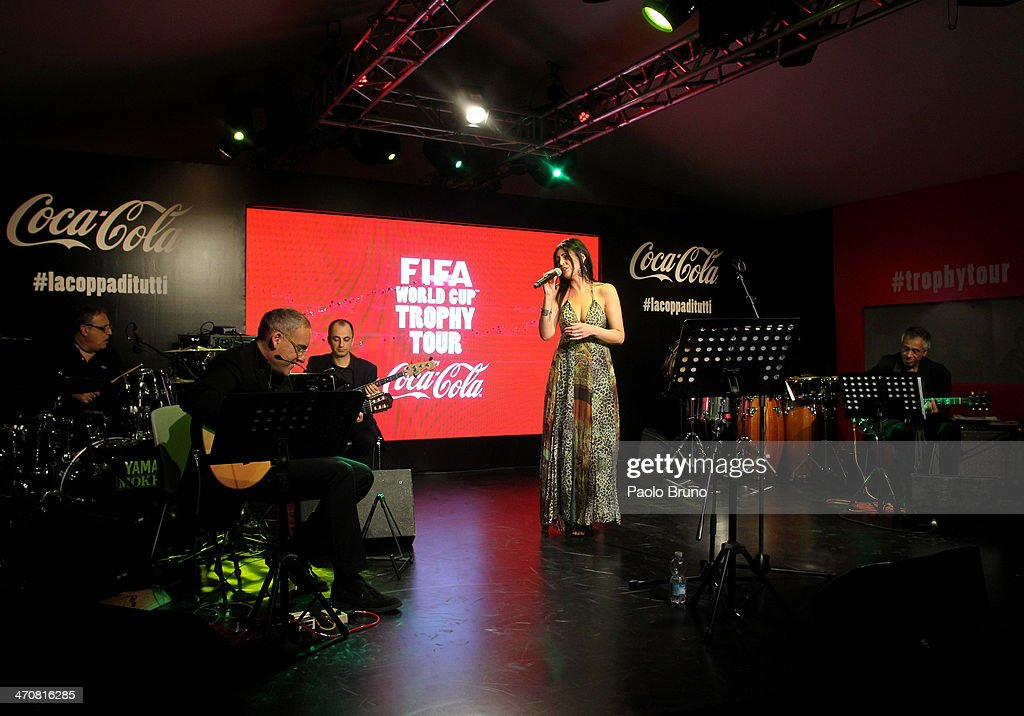 Atmosphere at a party during day two of the FIFA World Cup Trophy Tour on February 20, 2014 in Rome, Italy.