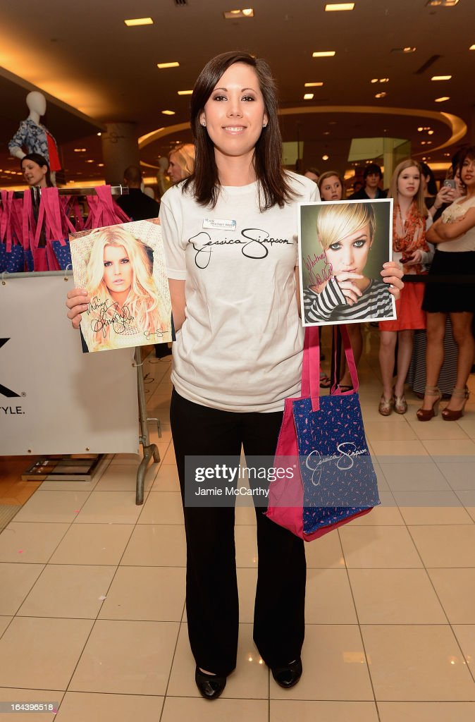 Atmosphere at Ashlee Simpson and Jessica Simpson visit Belk Southpark on March 23, 2013 in Charlotte, North Carolina.