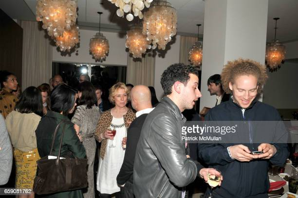 Atmosphere at Converse 1HUND Artists' Dinner at Aquavit Cafe on April 16 2009 in New York