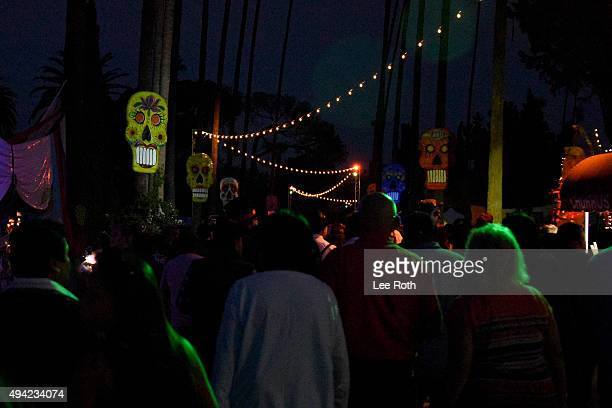 Atmosphere at Dia De Los Muertos Shamanic Visions of the Huichol at Hollywood Forever on October 24 2015 in Hollywood California