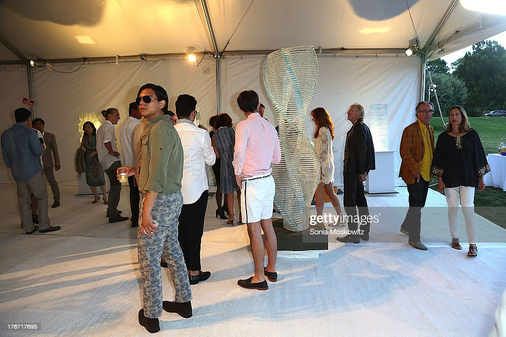Atmosphere at Domingo Zapata's A Contemporary Salon event on August 17, 2013 in Watermill, New York.