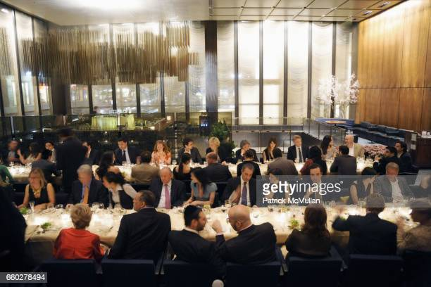 Atmosphere at ENRIQUE NORTEN Private Dinner Celebrating the 25th Anniversary of TEN ARQUITECTOS at The Four Seasons Restaurant on June 8 2009 in New...