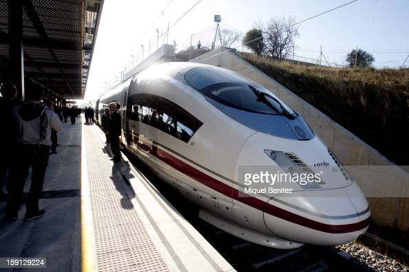 Atmosphere at FigueresVilafant train station during the inauguration of the AVE highspeed train line between Barcelona and the French border on...