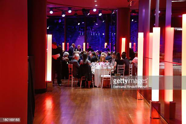 Atmosphere at 'Friends of Quai Branly Museum Society' dinner party at Musee du Quai Branly on September 9 2013 in Paris France