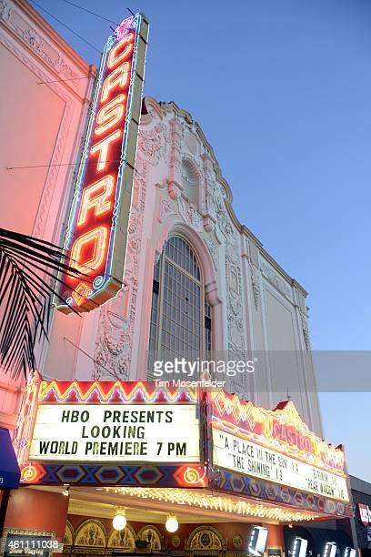 Atmosphere at HBO's 'Looking' season 2 premiere at the Castro Theater on January 6 2015 in San Francisco California