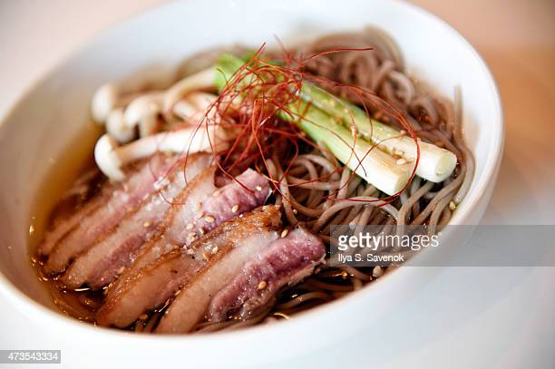 Atmosphere at Jin Ramen during the Dine In Harlem Dinner Series Harlem EatUp Festival on May 15 2015 in New York City