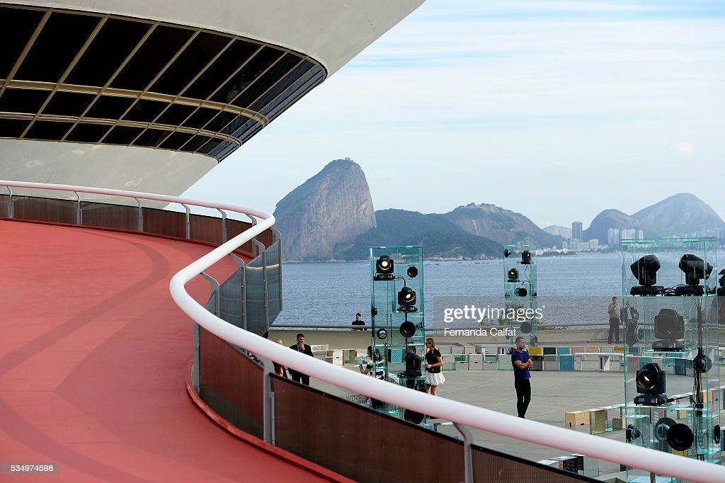 Atmosphere at Louis Vuitton 2017 Cruise Collection at MAC on May 28, 2016 in Niteroi, Brazil.