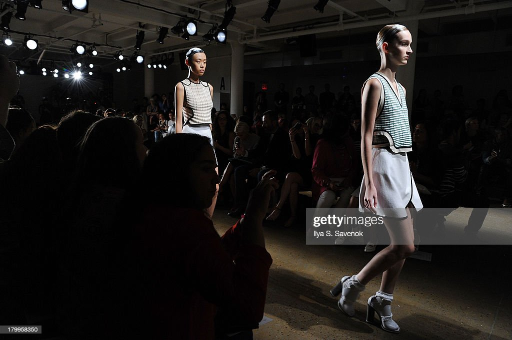 Atmosphere at Louise Goldin fashion show during MADE Fashion Week Spring 2014 at Milk Studios on September 7, 2013 in New York City.