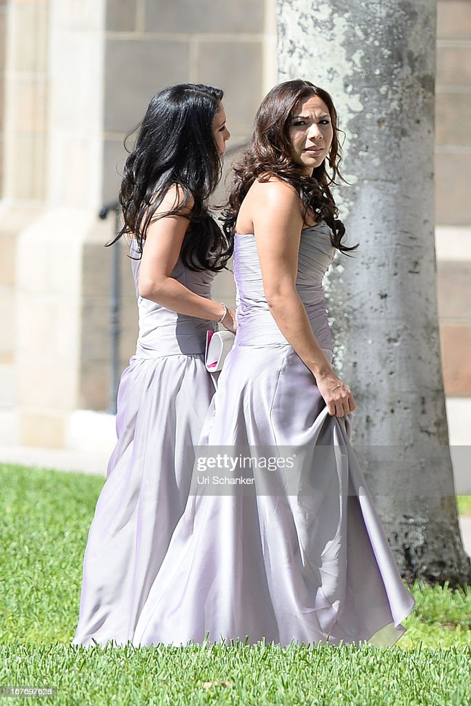 Atmosphere at Michael Jordan and Yvette Prieto weddding Bethesda-by-the Sea church on April 27, 2013 in Palm Beach, Florida.