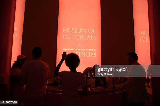 Atmosphere at Musum of Ice Cream Opening Party presented by American Express Platinum on September 15 2017 in San Francisco California
