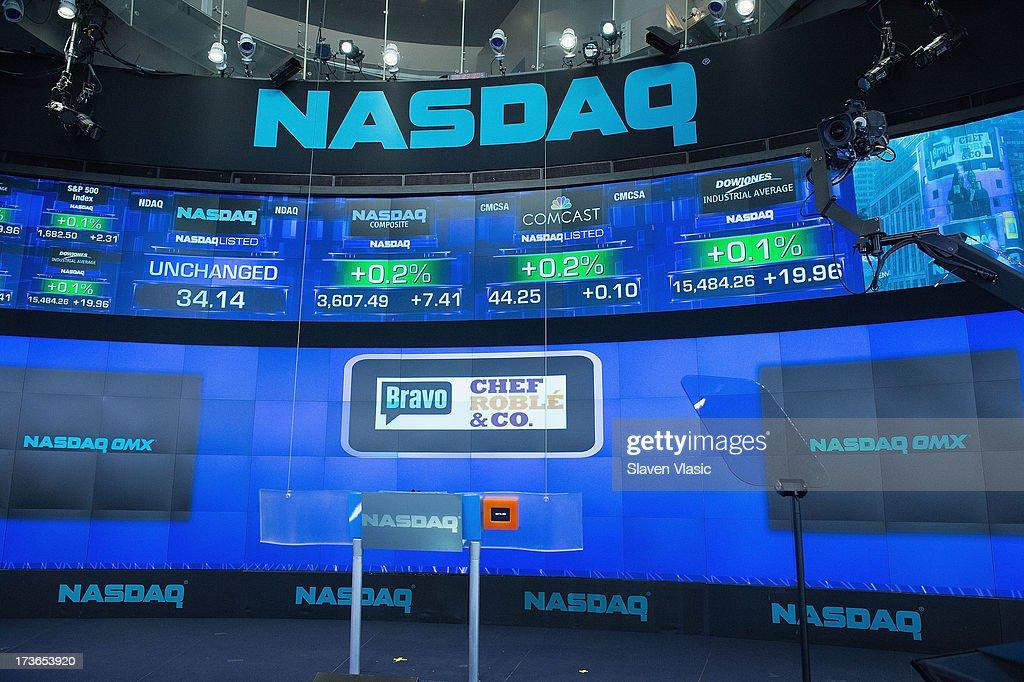 Atmosphere at NASDAQ MarketSite on July 16, 2013 in New York City.
