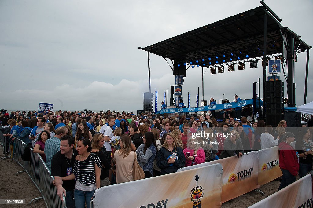 Atmosphere at NBC's 'Today' at Seaside Heights on May 24, 2013 in Seaside Heights, New Jersey.